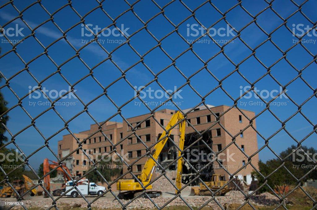 Demolition Work royalty-free stock photo