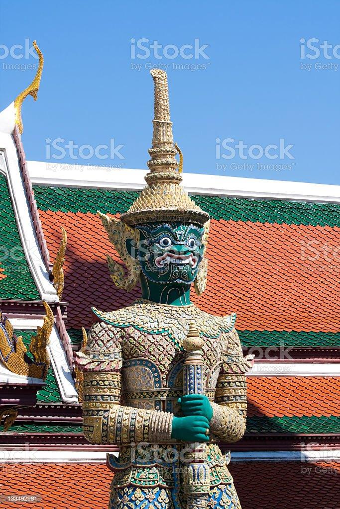 Demon at Bangkok royal palace stock photo