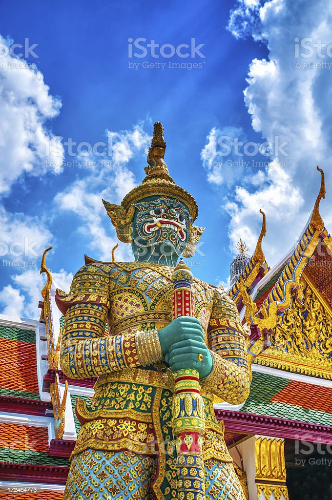 Demon Giant Guardian in Grand Palace, Bangkok, Thailand royalty-free stock photo