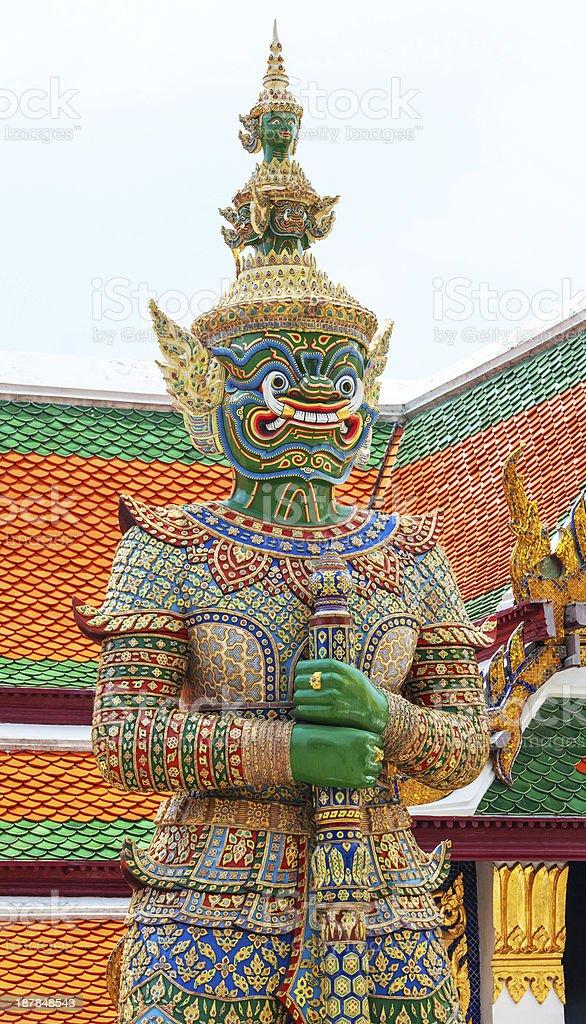 Demon Guardian Wat Phra Kaew Grand Palace Bangkok royalty-free stock photo