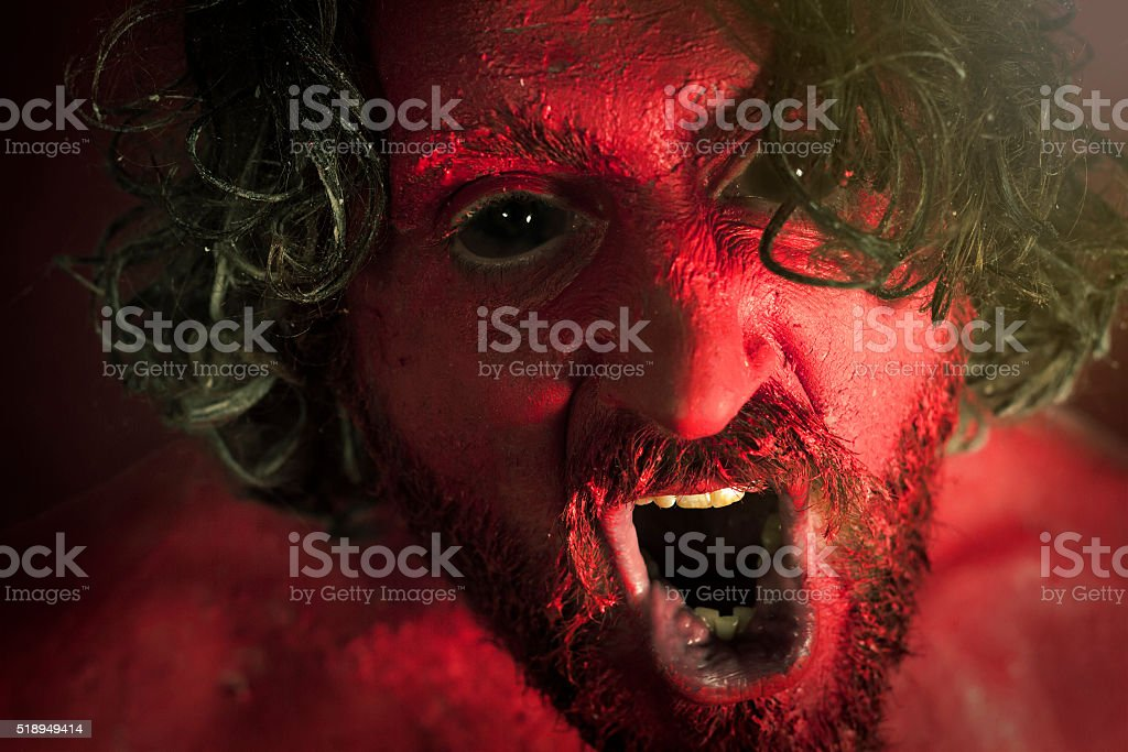 Demon Monster Beard stock photo