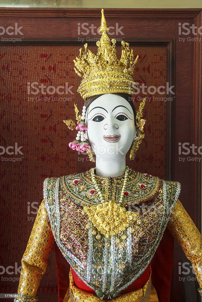 Demon Ramayana Statue royalty-free stock photo