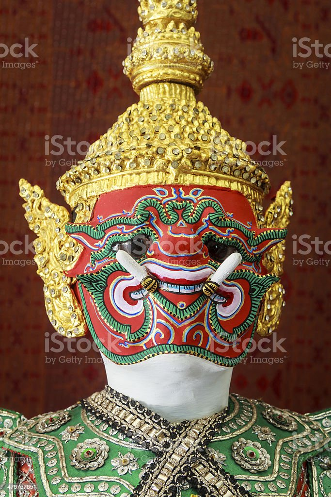 Demon Ramayana Statue royalty-free stock photo