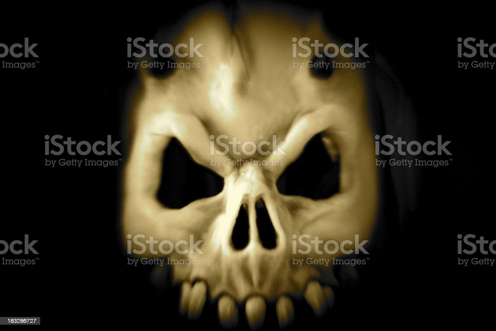 Demon Skull royalty-free stock photo