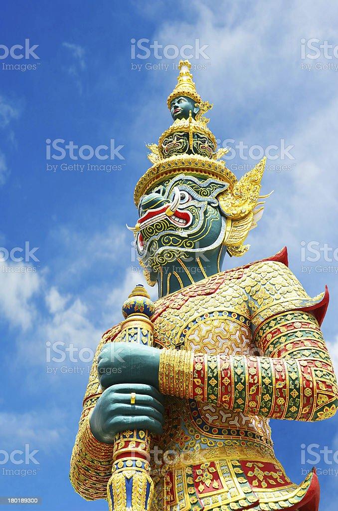 Demon statue at Bangkok, Thailand. royalty-free stock photo