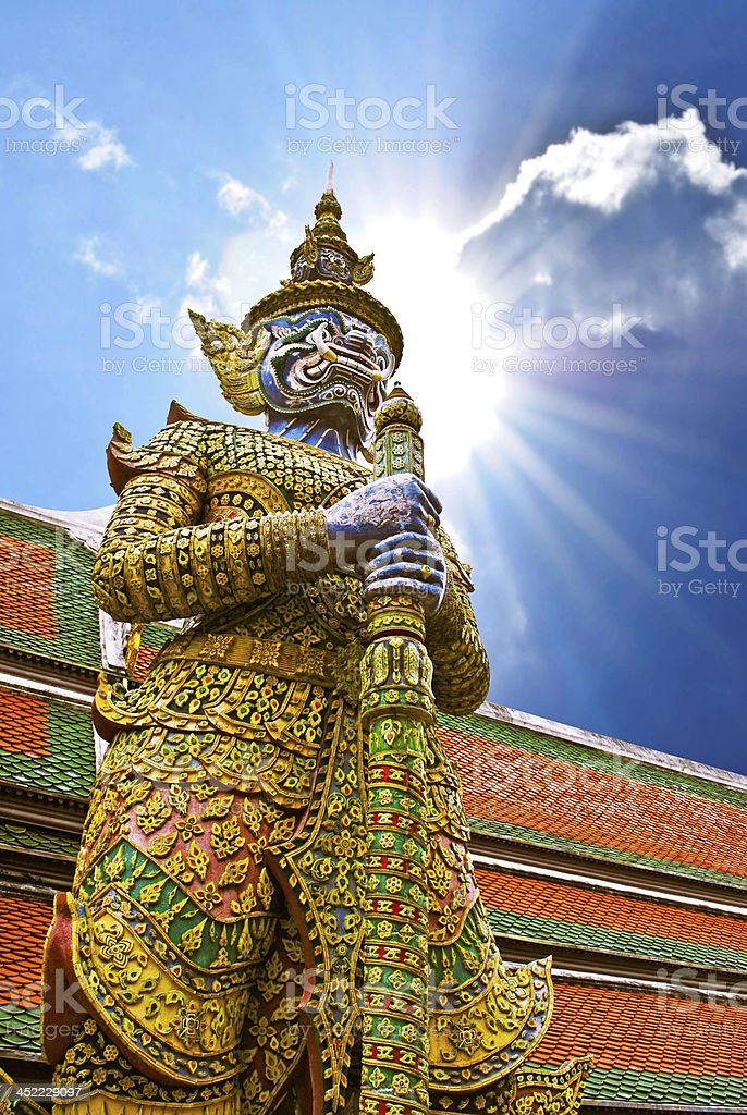 Demon statue at Bangkok, Thailand. royalty-free stock photo