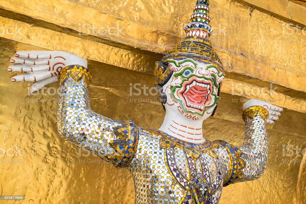 Demon Warrior, Royal Palace, Bangkok stock photo