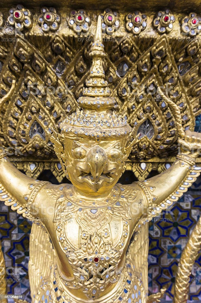 Demond in the Temple of Emerald Buddha royalty-free stock photo