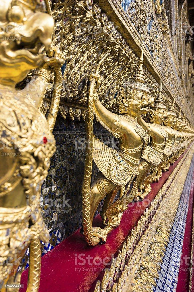 Demonds in Bangkok Grand Palace royalty-free stock photo