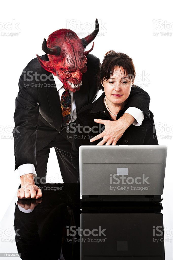 Demonic harassment royalty-free stock photo