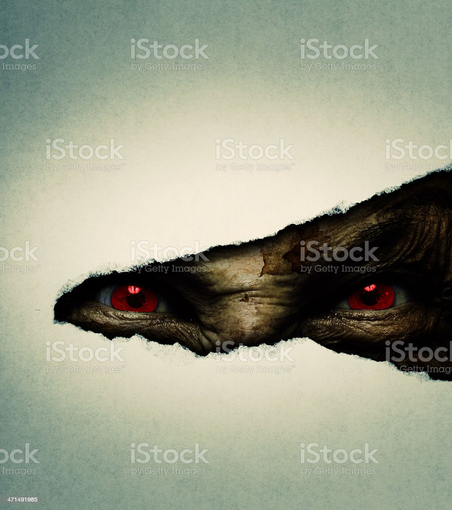 demonic ugly face royalty-free stock photo