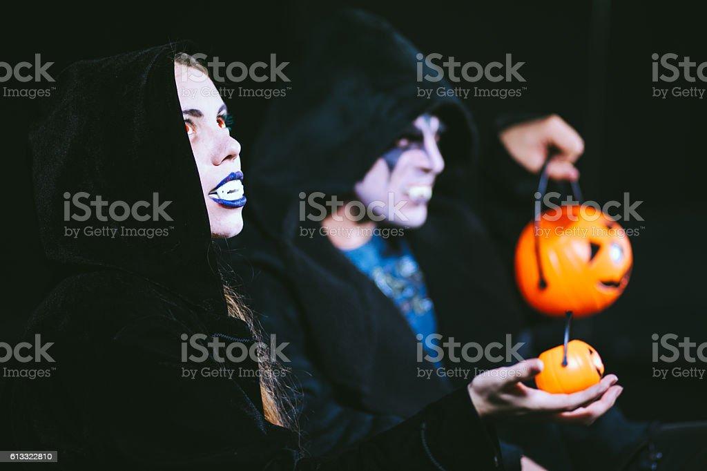 Demonic Vampire Couple stock photo