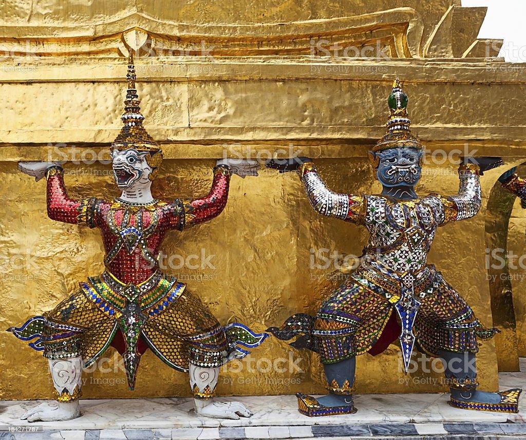 Demons at Grand Palace Bangkok royalty-free stock photo