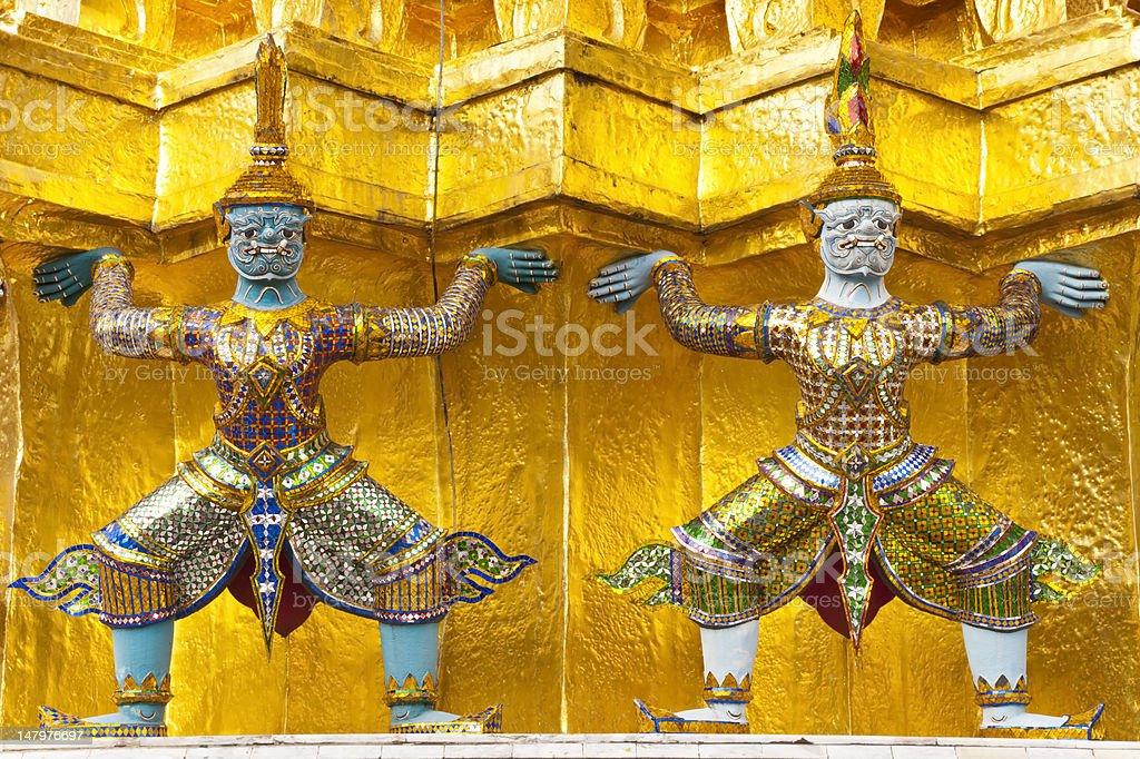 Demons z Wielki Pałac w Bangkoku zbiór zdjęć royalty-free