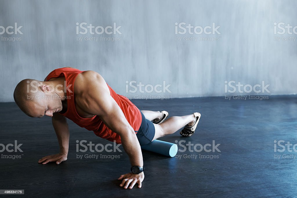 Demonstrating the proper positioning stock photo