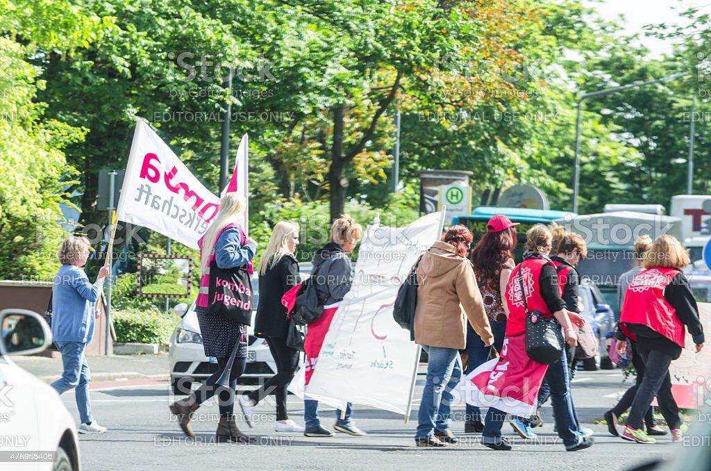 Demonstration in German stock photo