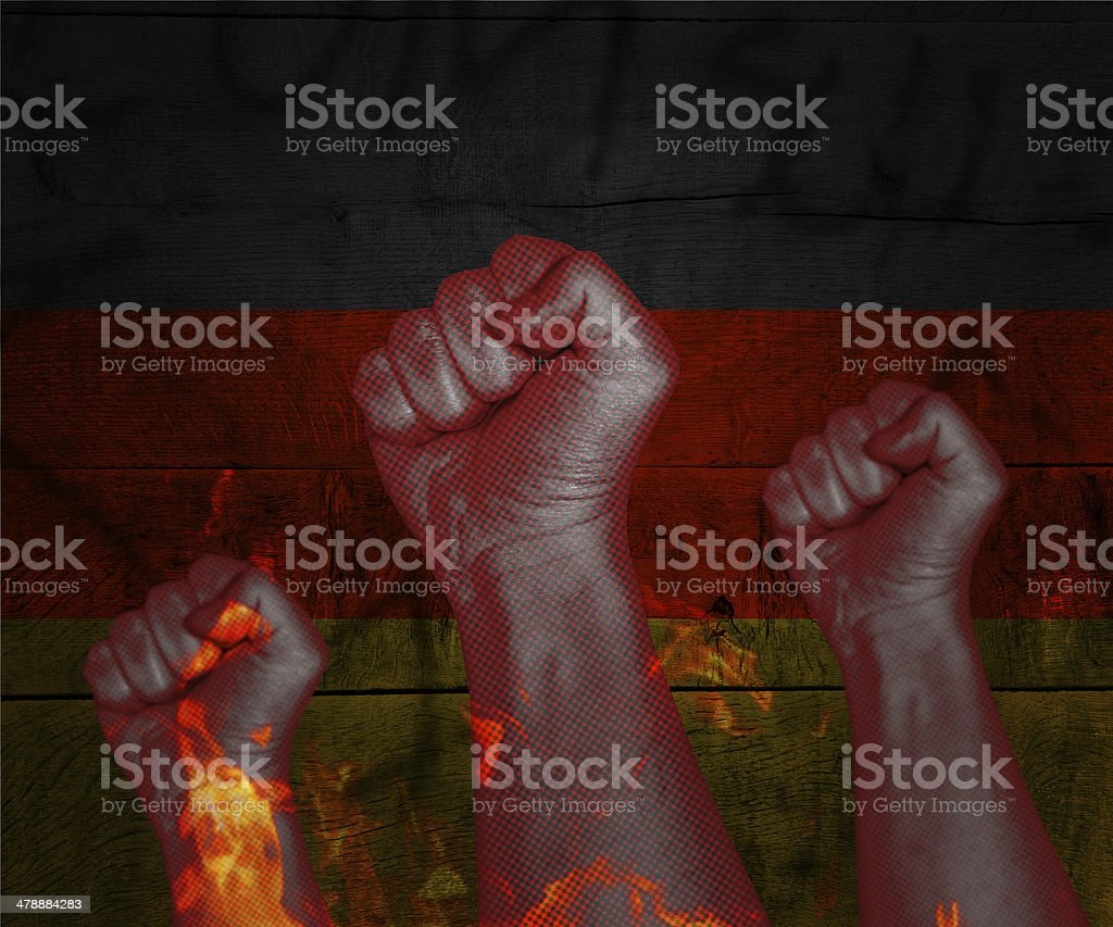 Demonstration in Germany royalty-free stock photo