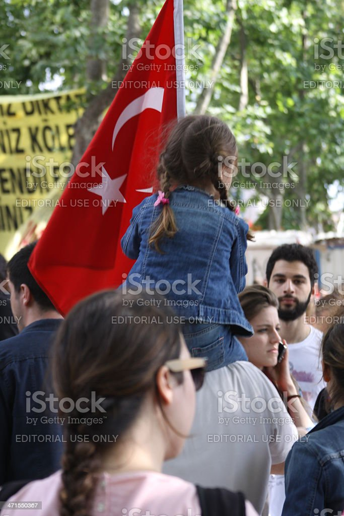 Demonstration in Gezi Park royalty-free stock photo