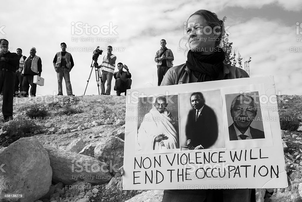 Demonstration in Palestine stock photo