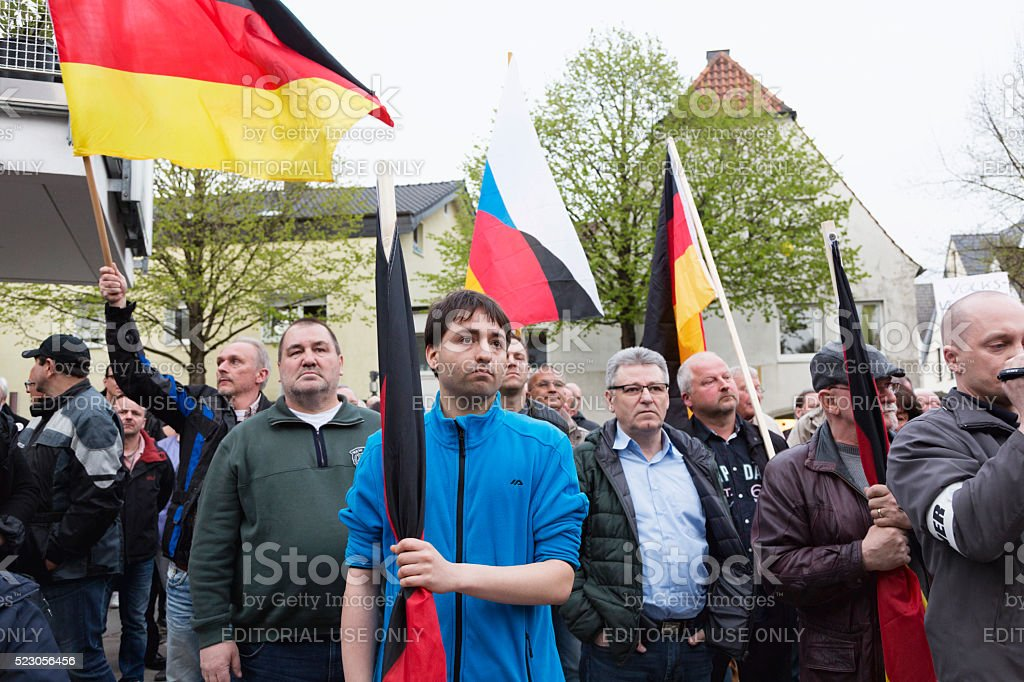Demonstration of 'Alternative fuer Deutschland' stock photo