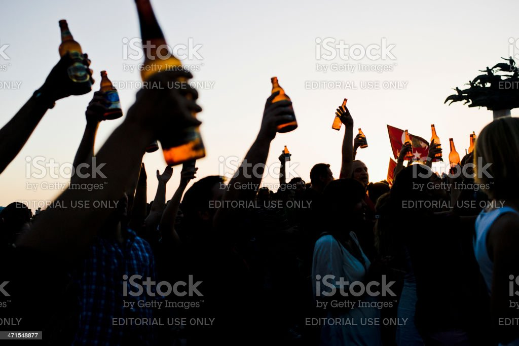 Demonstration of 'Istanbul Taksim Gezi Park' Turkey royalty-free stock photo