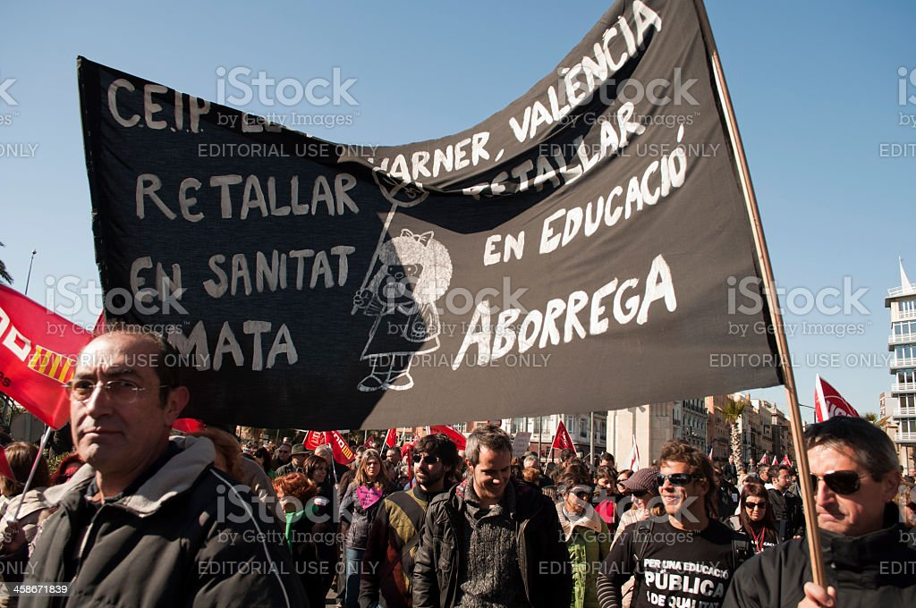 Demonstration. stock photo