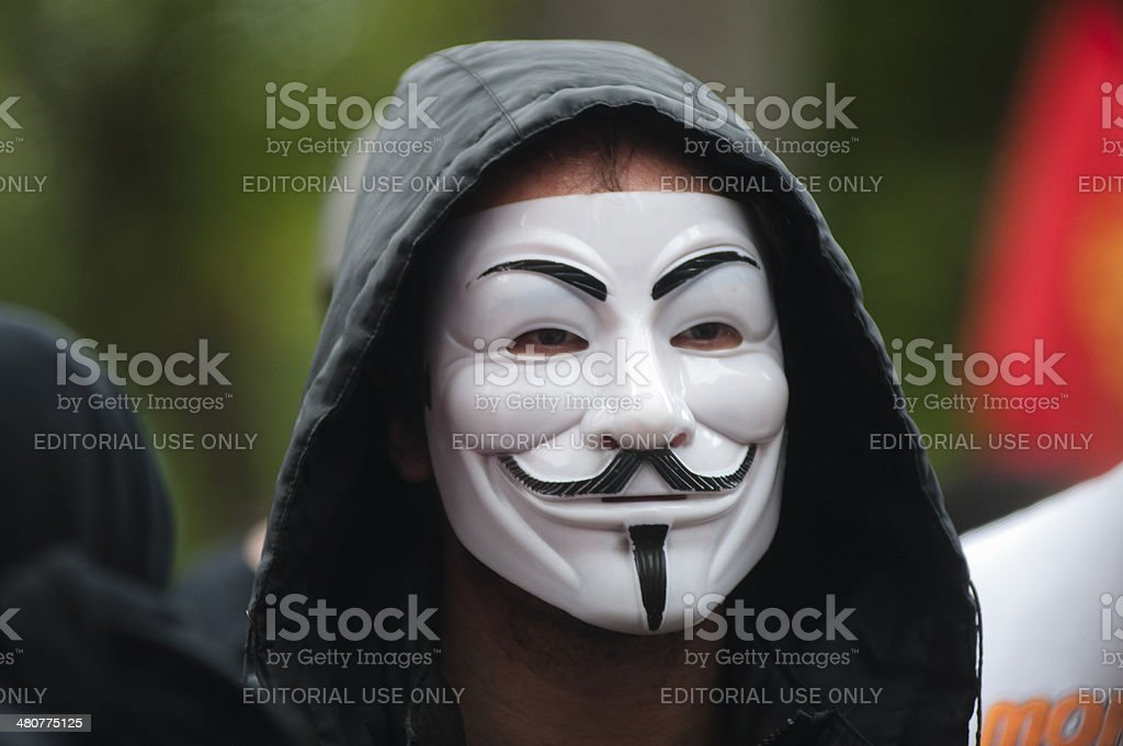 Demonstrator royalty-free stock photo