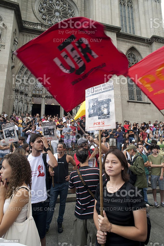 Demonstrators royalty-free stock photo