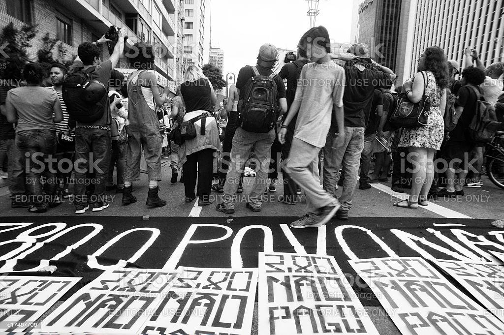 Demonstrators stock photo