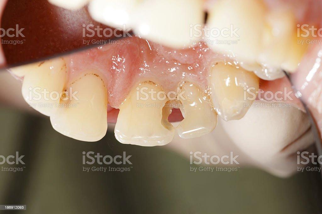 Demtal cavity - rare angle stock photo