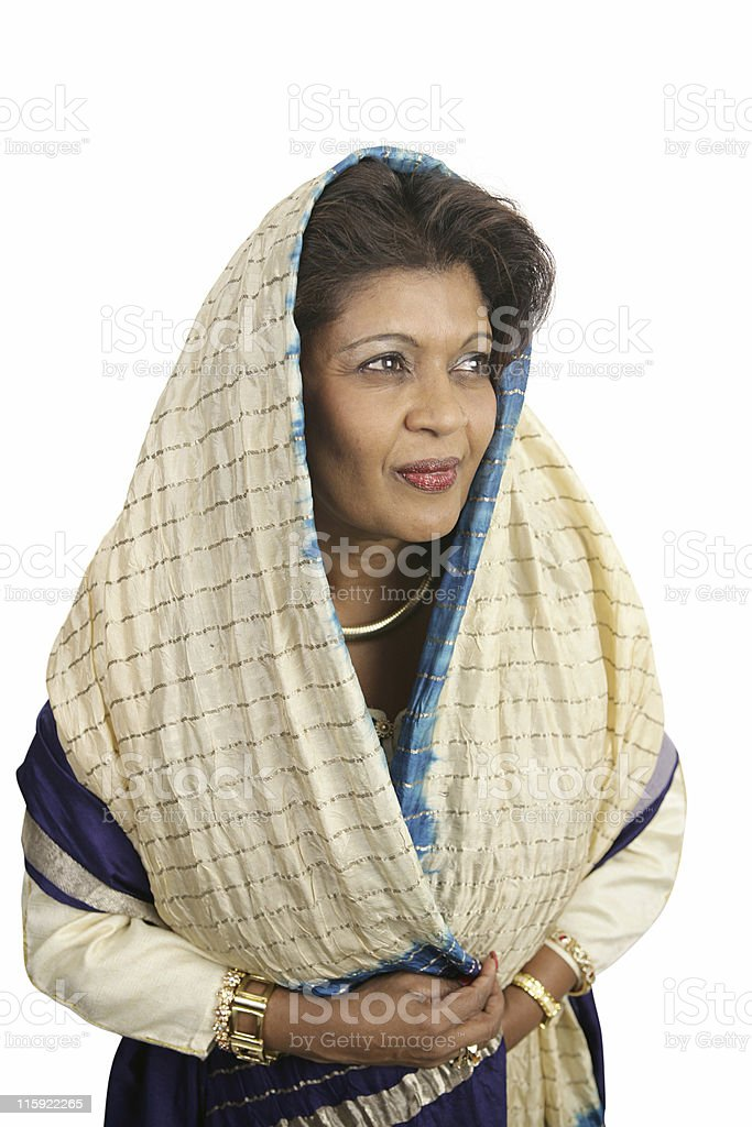 Demure Indian Woman royalty-free stock photo