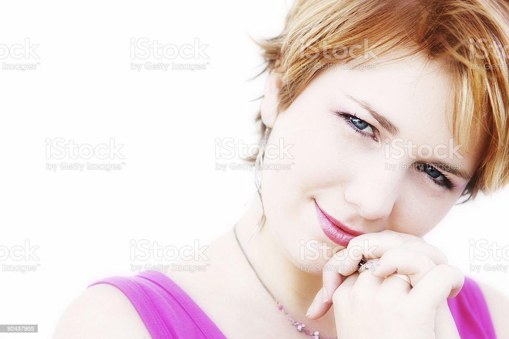 Demure Smile royalty-free stock photo