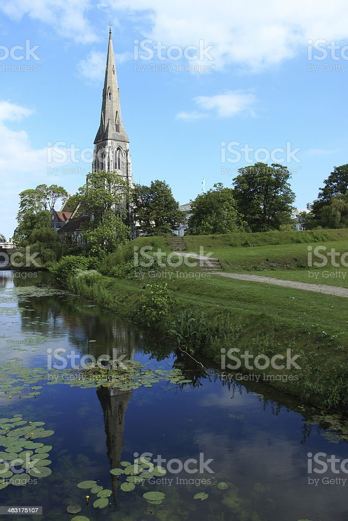 Den Engelske Kirke - The English church - Copenhagen royalty-free stock photo