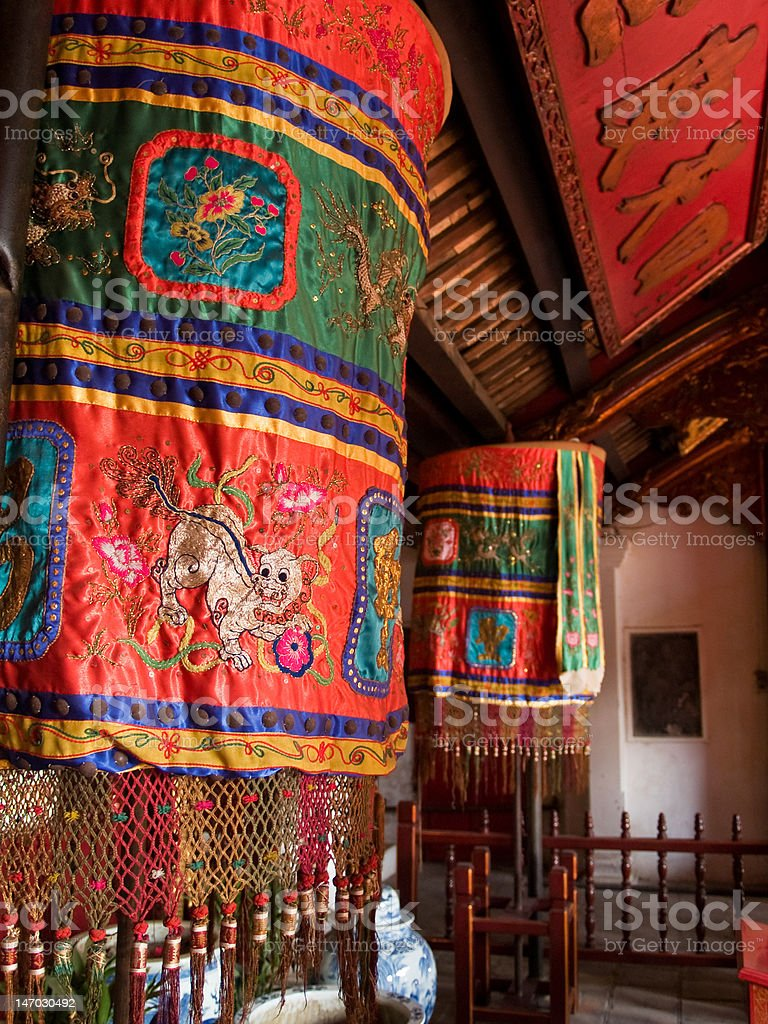 Den Ngoc Son temple in Hanoi stock photo