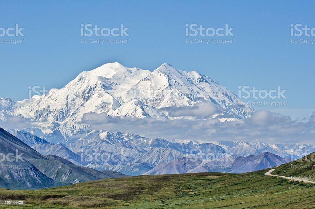 Denali National Park and Mount McKinley stock photo