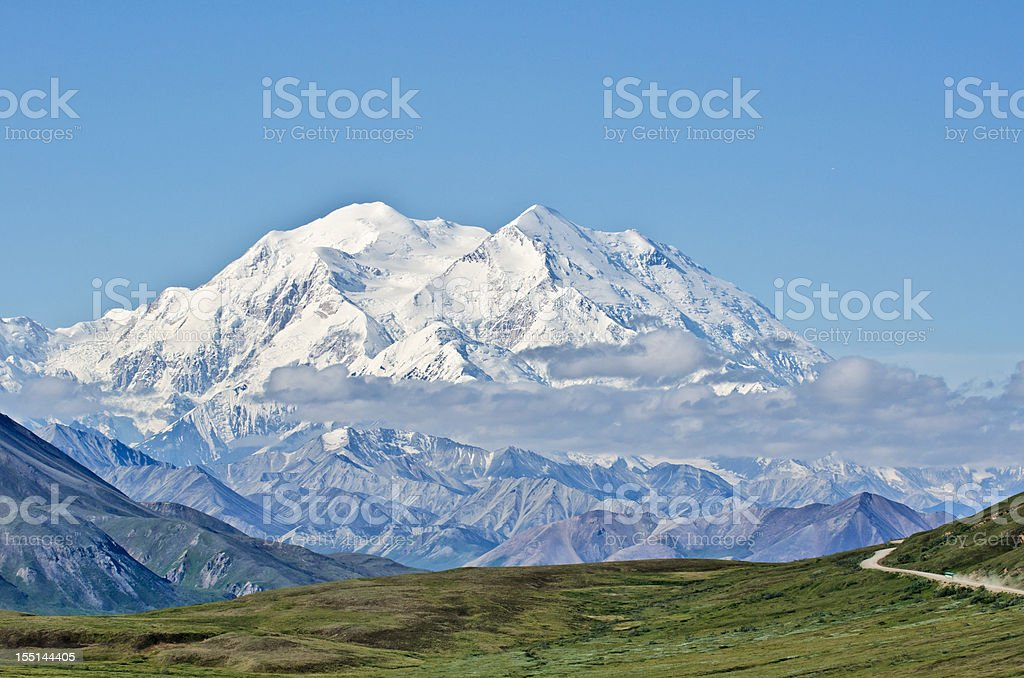 Denali National Park and Mount McKinley stock photo