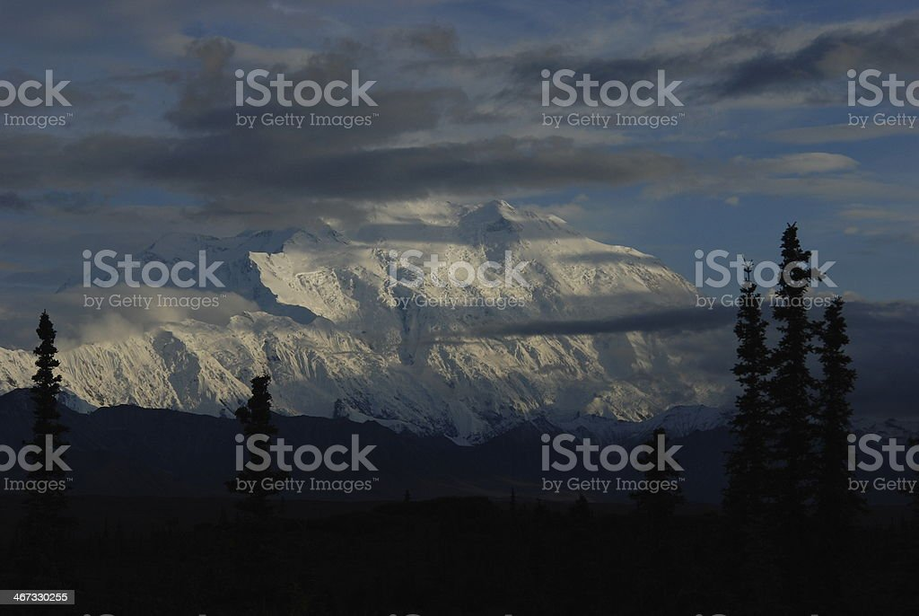 Denali north face complete at sunset royalty-free stock photo