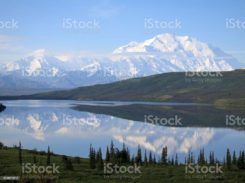 Denali Reflection stock photo