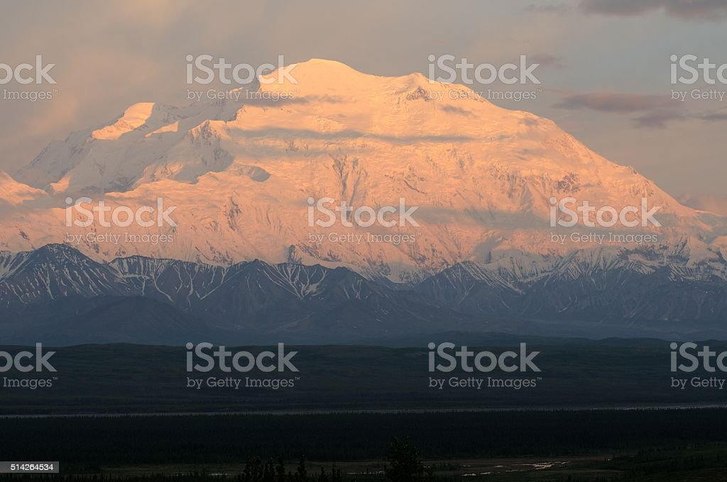 Denali sunset stock photo