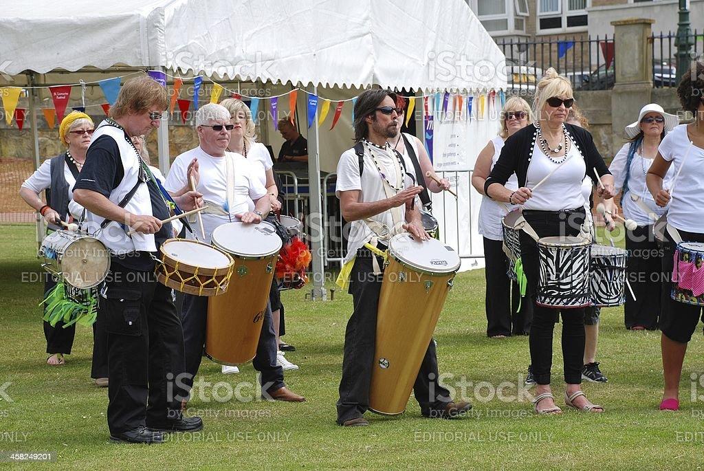 Dende Nation samba drum troupe royalty-free stock photo