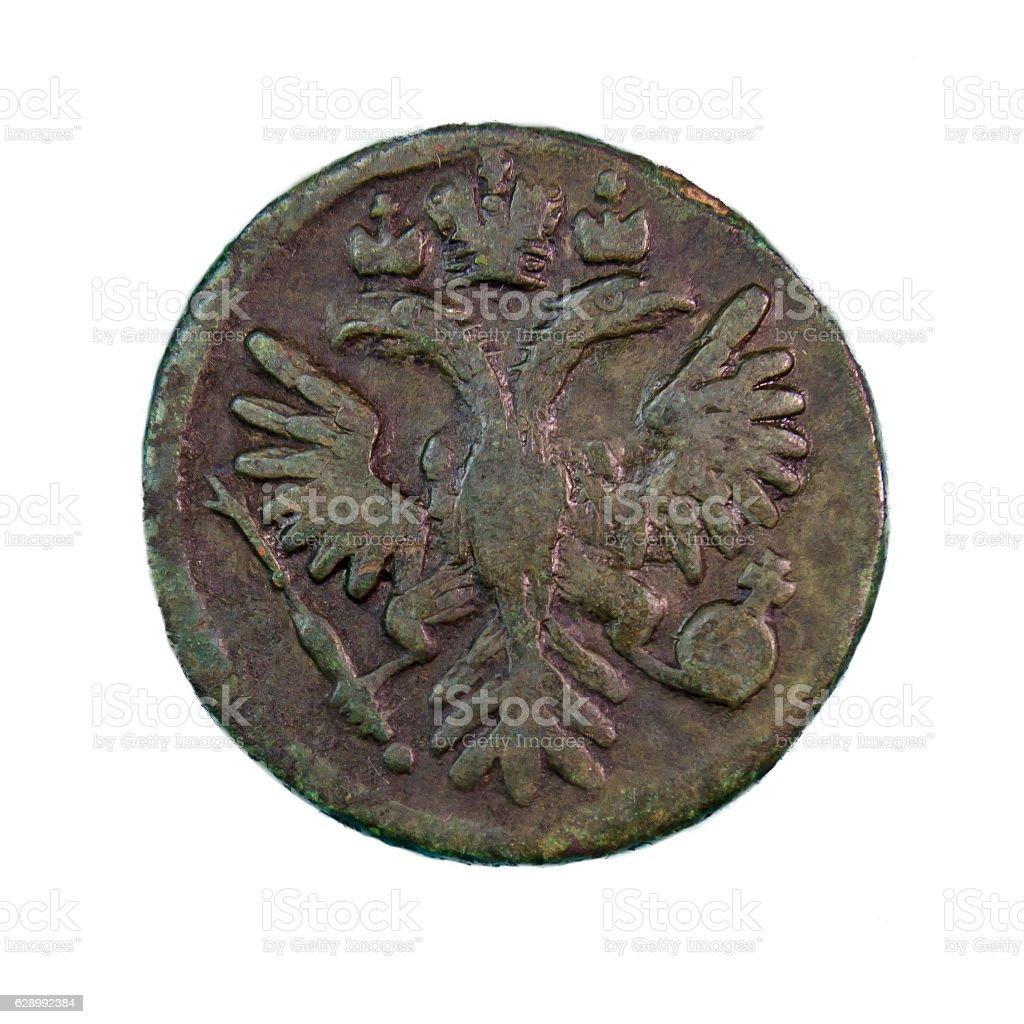 Deng copper coin stock photo