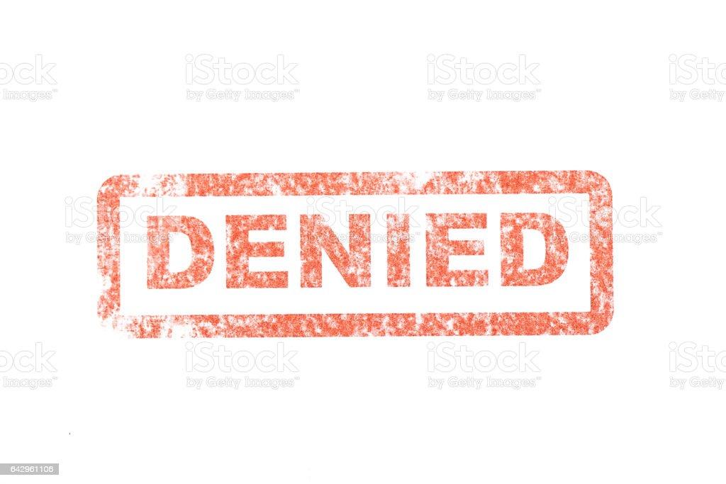 Denied Stamp stock photo