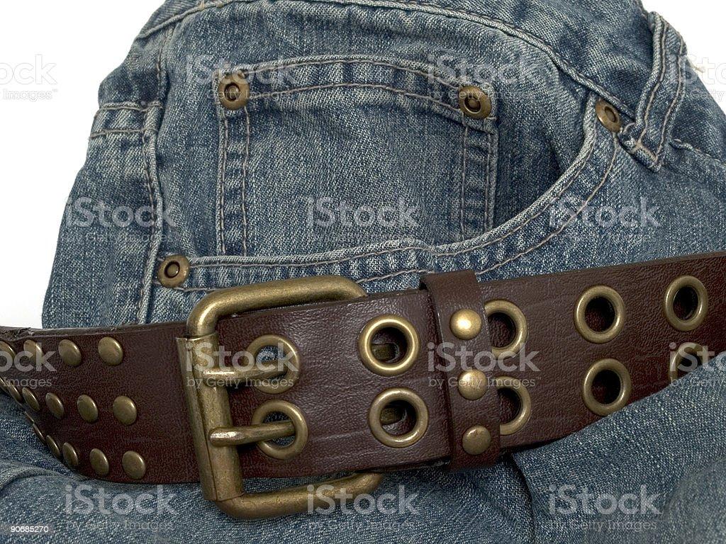 Denim and belt 2 royalty-free stock photo