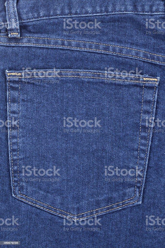 Denim Back Pocket stock photo