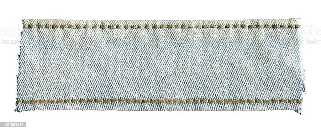 Denim banner background textured isolated stock photo