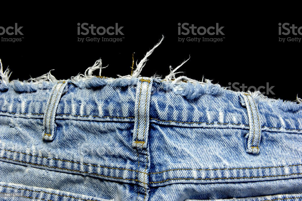 Denim belt loops faded royalty-free stock photo