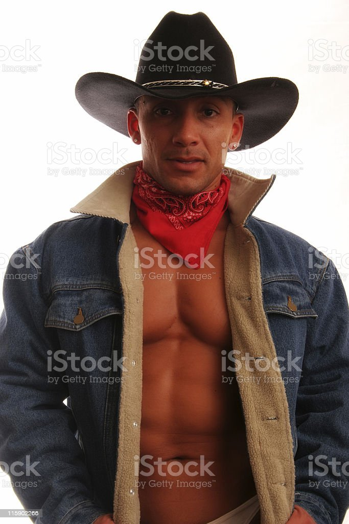 Denim Cowboy royalty-free stock photo