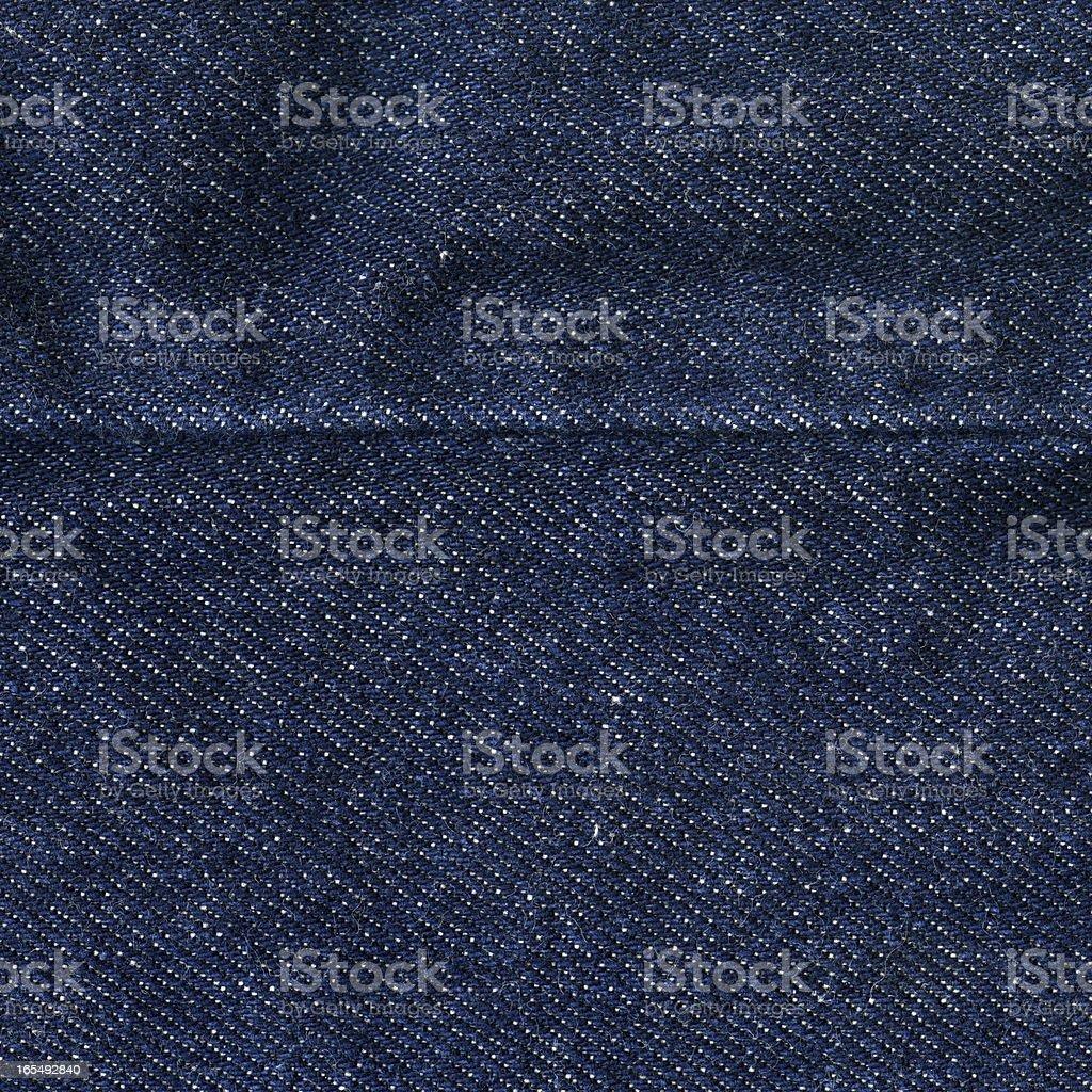 Denim Fabric Texture - Dark Blue With Seam XXXXL royalty-free stock photo