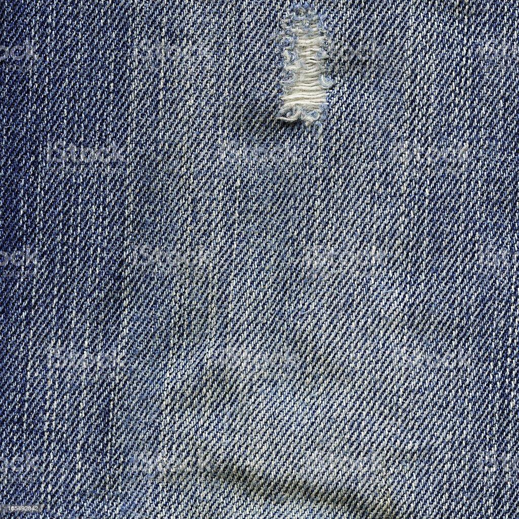 Denim Fabric Texture - Worn Out Blue XXXXL royalty-free stock photo