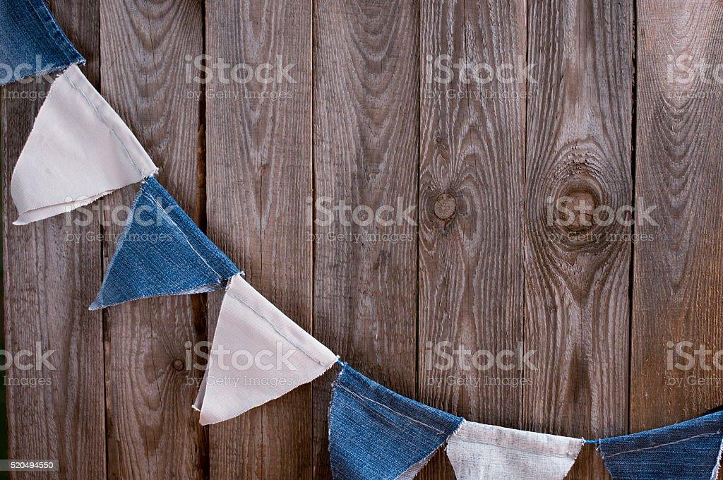 Denim festive flags stock photo